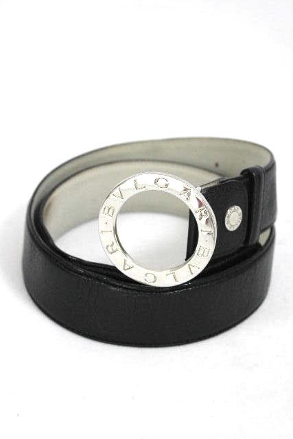 ブルガリ [ BVLGARI ] ブルガリブルガリ レザーベルト ブラック 黒 SIZE[42/105] メンズ レディース 紳士用 女性用