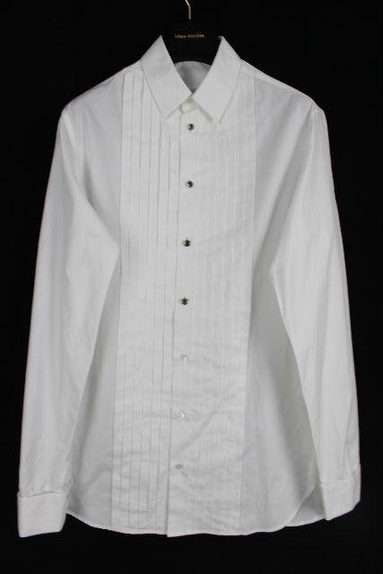 ルイヴィトン [ LOUISVUITTON ] ドレスシャツ ホワイト 白 長袖 SIZE[XS] メンズ トップス シャツ カッターシャツ ヴィトン ビトン