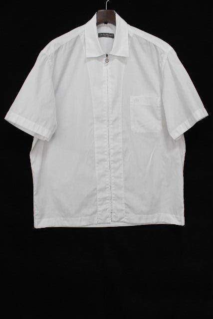 フェラガモ [ Ferragamo ] ガンチーニ シャツ ジャケット ホワイト 白 半袖 SIZE[XL] メンズ トップス
