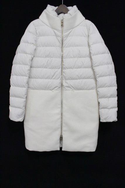 ヘルノ [ HERNO ] ウール 切り替え ダウンジャケット ホワイト 白 SIZE[40] レディース コート