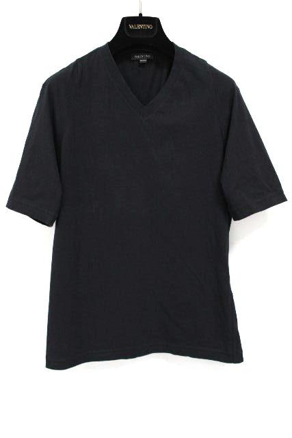 ヴァレンティノ [ VALENTINO ] Vネック カットソー ブラック 黒 半袖 SIZE[M] メンズ トップス Tシャツ バレンティノ