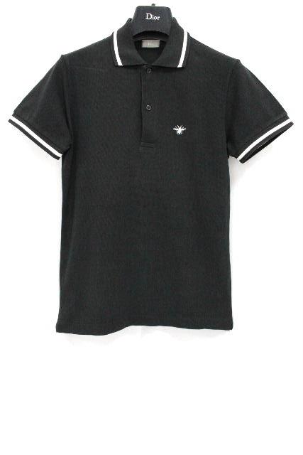 ディオールオム [ Dior ] Bee刺繡 ポロシャツ ブラック 黒 半袖 SIZE[44] メンズ ディオール トップス カットソー