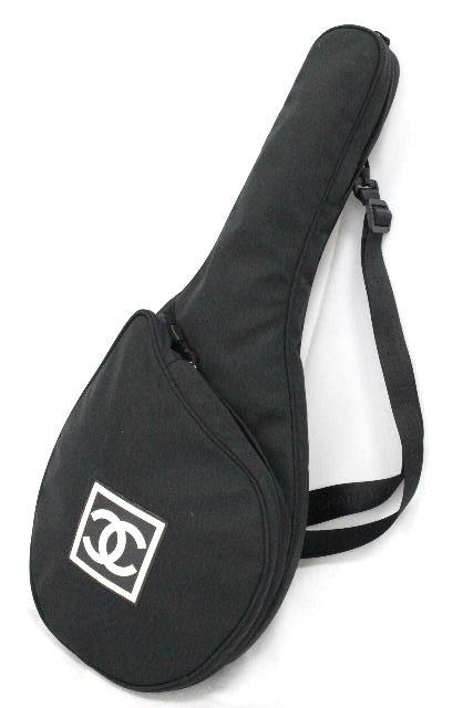 シャネル [ CHANEL ] スポーツライン テニス ラケットカバー ブラック 黒 ショルダー バッグ ラケットケース