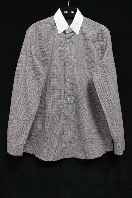 グッチ [ GUCCI ] チェック柄 ボタンダウンシャツ 長袖 SIZE[XS相当] メンズ トップス シャツ