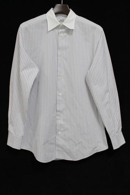 エルメス [ HERMES ] セリエ ストライプ シャツ 長袖 SIZE[39 15・1/2] メンズ トップス カッターシャツ ワイシャツ