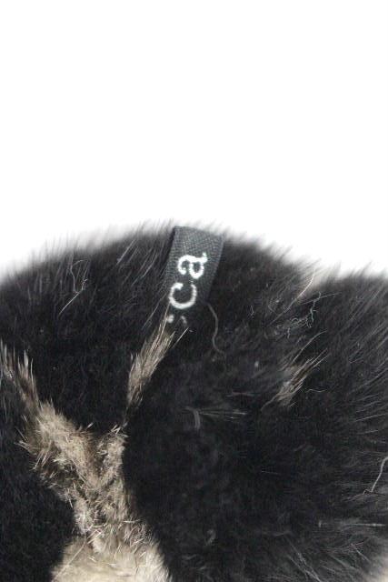 アッカ [ acca ] ミンクファー シュシュ ベージュ 黒ブラウン系 ヘアアクセサリー ヘアアクセ ヘアゴム