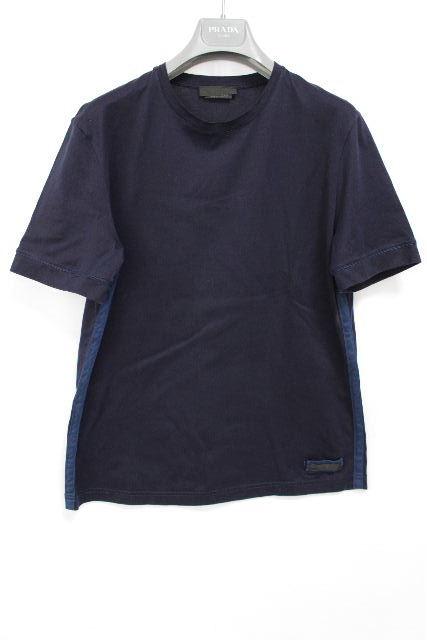 プラダ [ PRADA ] カットソー Tシャツ ネイビー 紺色 半袖 SIZE[M相当] メンズ トップス