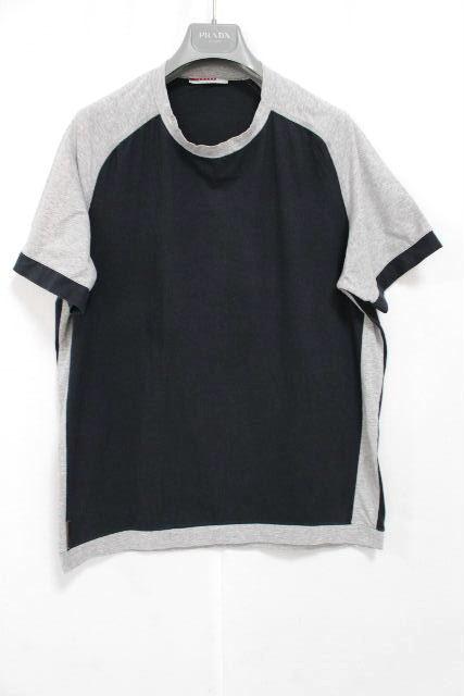 プラダスポーツ [ PRADA ] バイカラー カットソー Tシャツ 半袖 SIZE[L] メンズ トップス プラダ