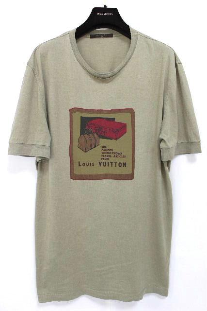 ルイヴィトン [ LOUISVUITTON ] トランクバッグ Tシャツ カーキ 半袖 SIZE[XL] メンズ カットソー ヴィトン
