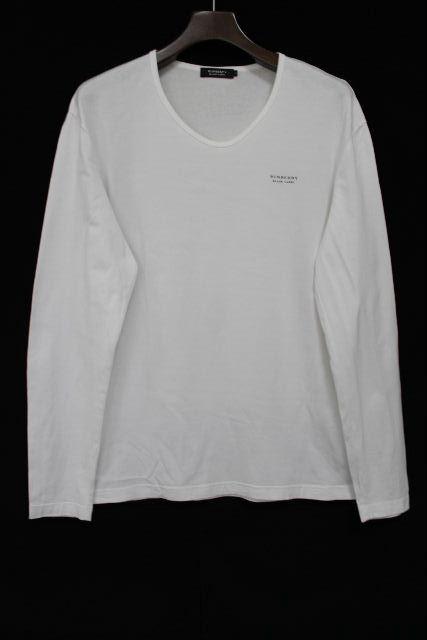 バーバリーブラックレーベル [ Burberry ] ロゴ ロンT ホワイト 白 長袖 SIZE[3] メンズ バーバリー ロングTシャツ カットソー