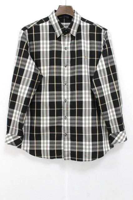 バーバリー [ Burberry BLUE LABEL ] チェック柄 カジュアルシャツ ブラック 黒 SIZE[M] メンズ トップス シャツ