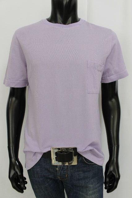 エルメス [ HERMES ] 鹿の子 H刺繡 ポロシャツ カットソー パープル 半袖 SIZE[M] メンズ トップス