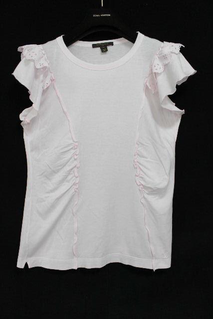ルイヴィトン [ LOUISVUITTON ] LV モノグラム フリル カットソー ピンク SIZE[L] レディース Tシャツ ビトン ヴィトン