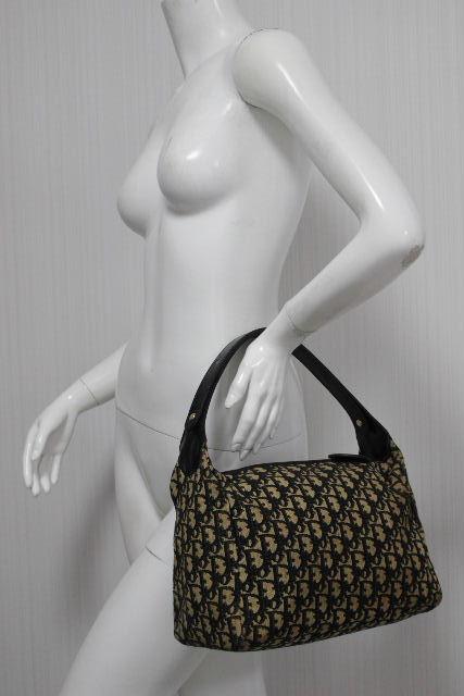 クリスチャン・ディオール [ Dior ] オールド ディオール トロッター柄 2WAY バッグ ネイビー レディース ショルダーバッグ ハンドバッグ