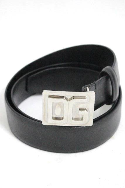 ドルチェ&ガッバーナ [ DOLCE&GABBANA ] DGバックル レザーベルト ブラック 黒 SIZE[34INCH 85cm] メンズ ドルガバ D&G