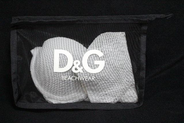 D&G [ ドルチェ&ガッバーナ ] レース ビキニ ホワイト 白 SIZE[M] レディース ドルガバ スイムウエア 水着