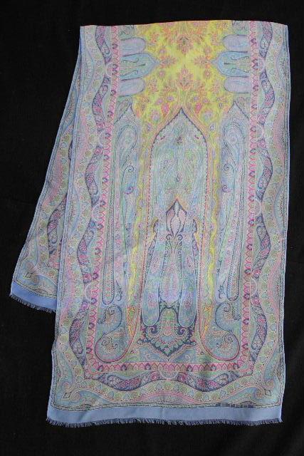 エトロ [ ETRO ] シルク ペイズリー柄 ストール ショール ブルー レディース 女性用 スカーフ