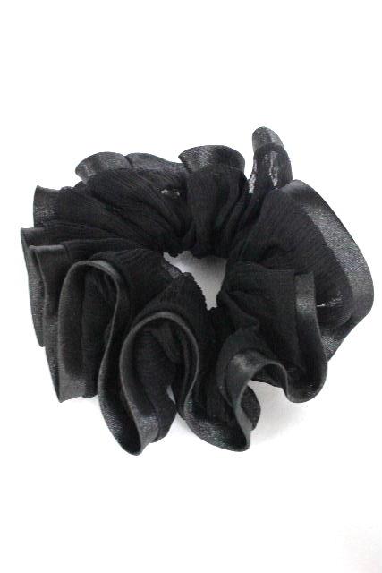 アッカ [ acca ] フリルシュシュ ブラック 黒 ヘアアクセサリー ヘアアクセ ヘアゴム