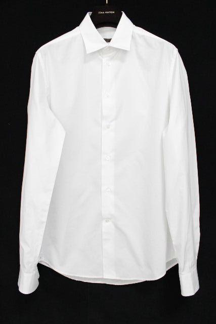ルイヴィトン [ LOUISVUITTON ] LV刺繡 カッターシャツ ホワイト 白 長袖 SIZE[40 ・15 1/4] メンズ トップス ワイシャツ ヴィトン ビトン