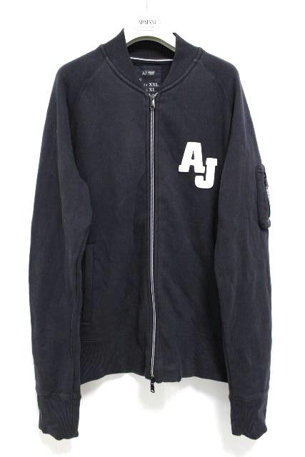 アルマーニジーンズ [ ARMANI ] MA-1 スエット ジップアップ ブルゾン SIZE[XL] メンズ アルマーニ トレーナー パーカー