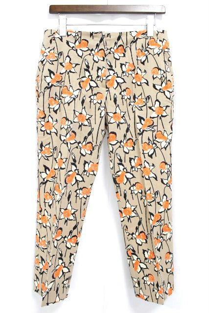 ミュウミュウ [ miumiu ] フラワー柄 テーパードパンツ ベージュ SIZE[38] レディース ボトムス ウールパンツ 花柄