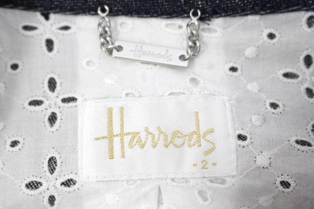 ハロッズ [ Harrods ] レース デニムジャケット SIZE[2] レディース アウター テーラードジャケット