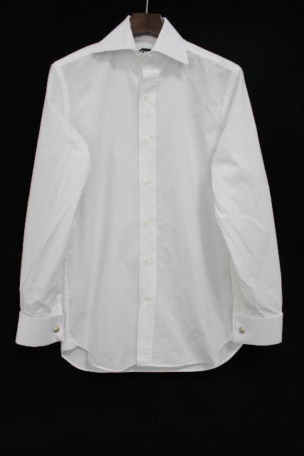 トムフォード [ TOMFORD ] カッターシャツ ホワイト 白 長袖 SIZE[40 15・3/4] メンズ トップス ワイシャツ シャツ カフス
