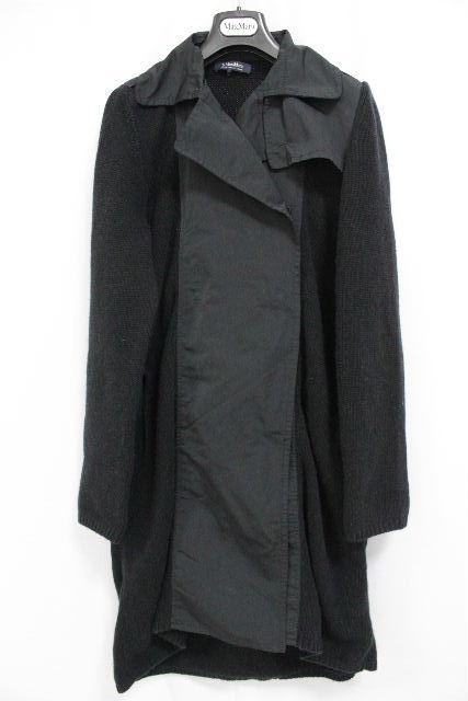 マックスマーラ [ MaxMara ] カシミヤ ベルト ニット トレンチコート ブラック 黒 SIZE[M] レディース アウター コート