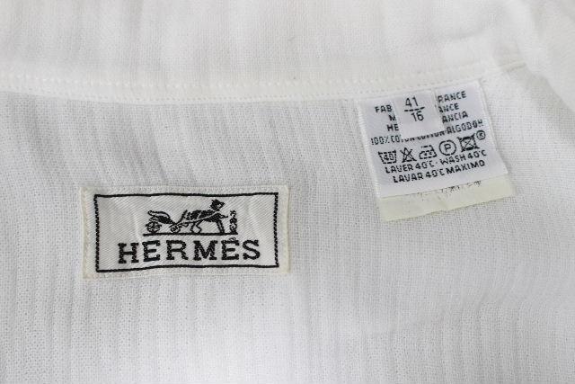 エルメス [ HERMES ] セリエボタン カジュアルシャツ 白 長袖 SIZE[41/16] メンズ トップス シャツ ジャケット