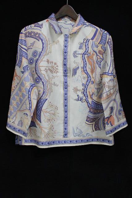 エルメス [ HERMES ] スカーフ シルク ブラウス SIZE[38] レディース プルオーバー シャツ