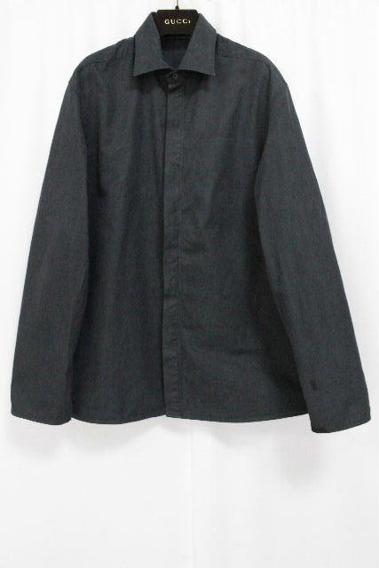 グッチ [ GUCCI ] シャツ ジャケット ブラック 黒 長袖 SIZE[40 15・3/4] メンズ トップス