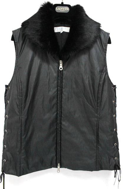 ランバン [ LANVIN ] ファー 中綿 ダウン ベスト ブラック 黒 SIZE[40] レディース アウター ダウンジャケット