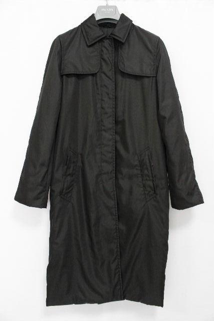 プラダ [ PRADA ] ベルト 中綿 ダウン コート ブラック 黒 SIZE[38] レディース アウター