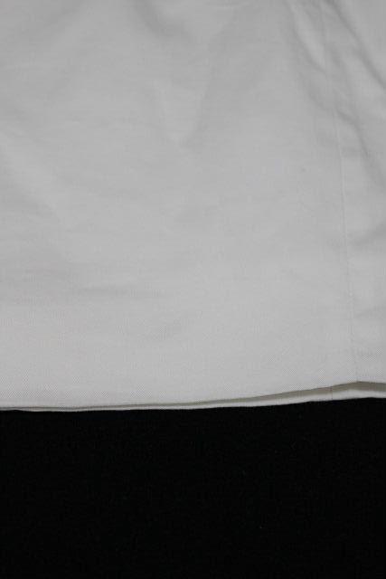 クリスチャンディオール [ Christian Dior ] リボン シャツ ワンピース ホワイト 白 SIZE[M相当] レディース ディオール ノースリーブ ワンピ