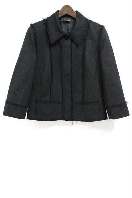 フェンディ [ FENDI ] ツイード ジャケット ブラック 黒 SIZE[42] レディース トップス アウター