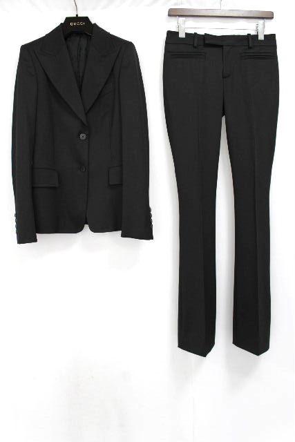 グッチ [ GUCCI ] セットアップスーツ ブラック 黒 SIZE[38] レディース ジャケット パンツ スーツ
