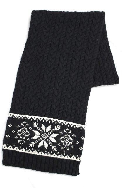 ラルフローレン [ Ralph Lauren ] ビーズ スノー カシミヤ混 ロングマフラー ブラック 黒