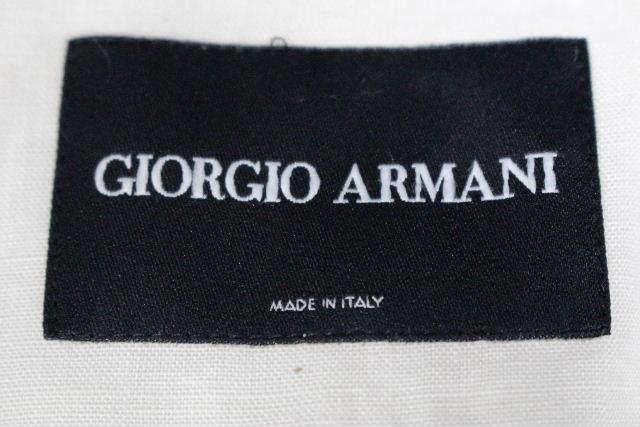 ジョルジオアルマーニ [ ARMANI ] リネン ノーカラージャケット オフホワイト SIZE[36] レディース アルマーニ トップス カジュアルジャケット 麻