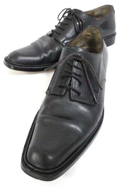 ルイヴィトン [ LOUISVUITTON ] ロゴ レザー シューズ ブラック 黒 SIZE[25cm相当(目安)] メンズ 紳士用 ヴィトン ビトン 革靴