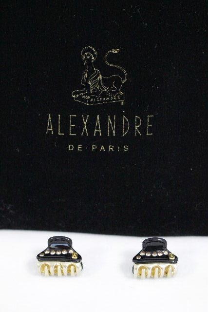 アレクサンドルドゥパリ [ ALEXANDRE ] スワロフスキー ミニ クリップ ブラック 黒 [2個セット] ヘアアクセサリー ヘアアクセ アレクサンドル
