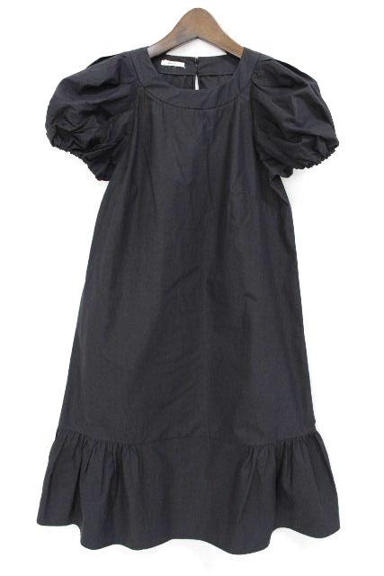 ミュウミュウ [ MIUMIU ] フリルワンピース ブラック 黒 SIZE[36] レディース ワンピ フレアーワンピース