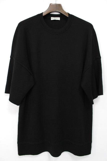 バレンシアガ [ BALENCIAGA ] 2015AW ビッグシルエット ニット セーター 黒 SIZE[S] メンズ トップス プルオーバー ブラック