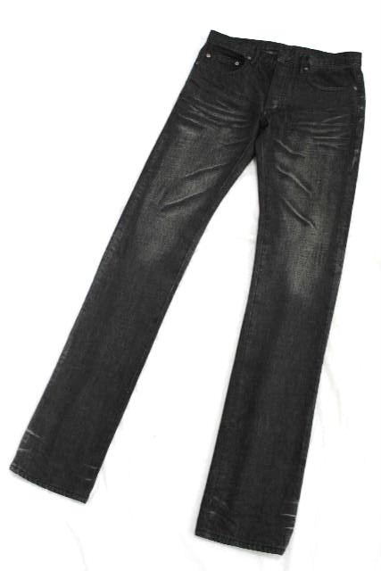 ディオールオム [ Dior ] ダメージ加工 ブラックデニムパンツ SIZE[29] メンズ ディオール スキニーデニム パンツ ジーンズ