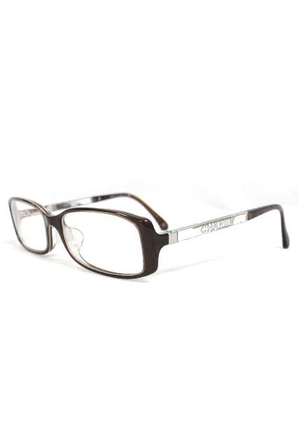 シャネル [ CHANEL ] ミラーロゴ 眼鏡フレーム ブラウン 茶系 [3177-A 1187] メガネフレーム めがねフレーム