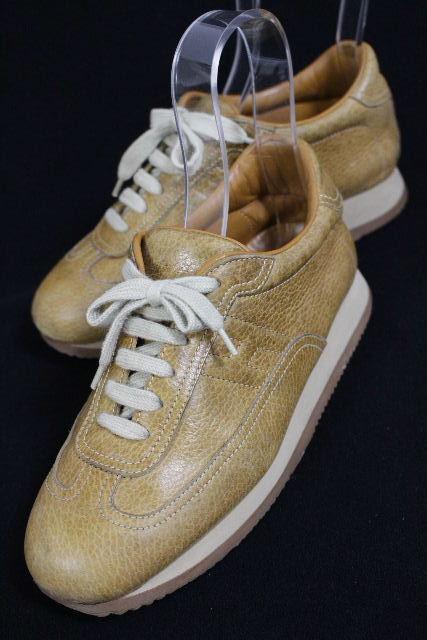 エルメス [ HERMES ] クイック ベージュキャメル系 SIZE[37.5] レディース レザー スニーカー シューズ 靴