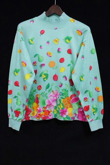 レオナール [ LEOMARD ] ロゴ フルーツ柄 プルオーバー カットソー グリーン SIZE[M] レディース トップス Tシャツ 長袖
