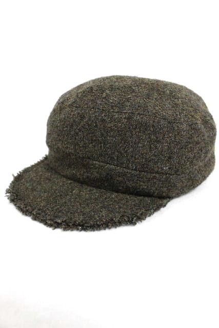 ジョンガリアーノ [ JOHN GALLIANO ] ウール キャスケット帽子 カーキ SIZE[L] メンズ レディース ガリアーノ ハンチング帽子