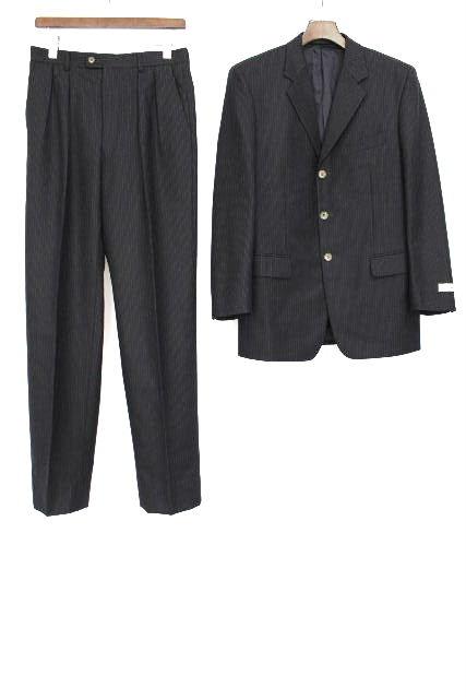 ポールスミス [ PaulSmith ] ストライプ 3B シングルスーツ グレー SIZE[M] メンズ ウール ジャケット スラックスパンツ