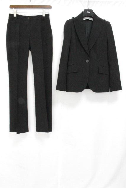 クリスチャンディオール [ Christian Dior ] セットアップ スーツ ブラック 黒 レディース ディオール ジャケット パンツ