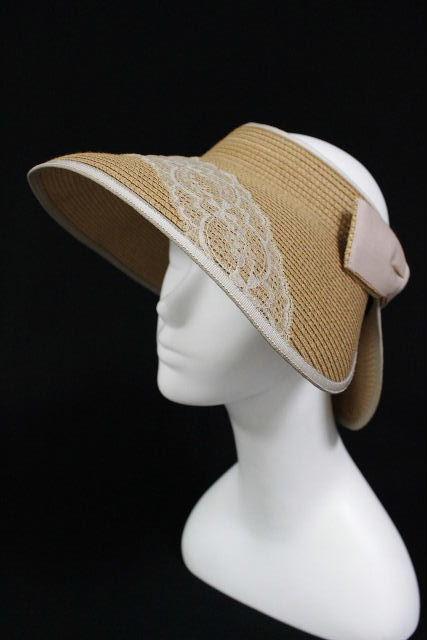 カリエ [ Carie ] リボン 麦わら帽子 サンバイザー ★日本製★ レディース ストローハット 帽子